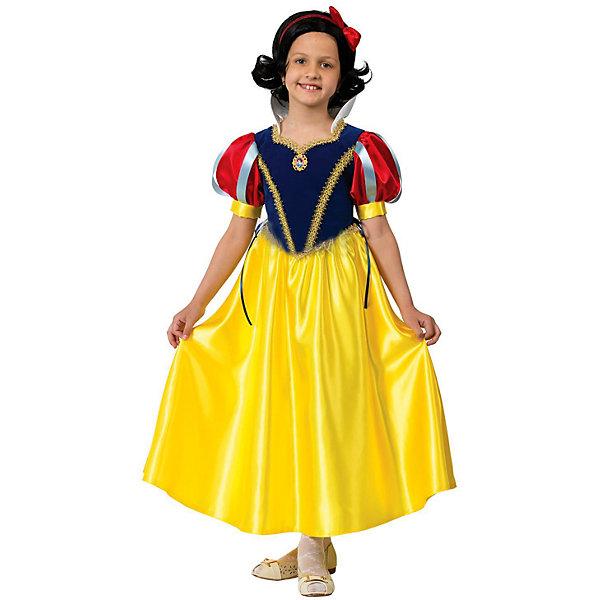 Карнавальный костюм Принцесса Белоснежка Батик для девочкиКарнавальные костюмы для девочек<br>Карнавальный костюм Принцесса Белоснежка Батик для девочки<br>Карнавальный костюм (платье,  брошь, парик, обруч с бантом) (текстиль)<br>Состав:<br>Полиэстр 100%<br>Ширина мм: 450; Глубина мм: 80; Высота мм: 350; Вес г: 250; Возраст от месяцев: 48; Возраст до месяцев: 60; Пол: Женский; Возраст: Детский; Размер: 116,110; SKU: 7224551;