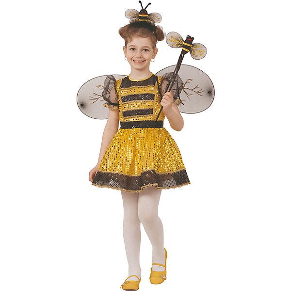 Карнавальный костюм Пчелка Батик для девочкиНовинки для праздника<br>Карнавальный костюм Пчелка Батик для девочки<br>Карнавальный костюм (платье, набор Пчелки)<br>Состав:<br>Полиэстр 100%<br>Ширина мм: 450; Глубина мм: 80; Высота мм: 350; Вес г: 250; Возраст от месяцев: 48; Возраст до месяцев: 60; Пол: Женский; Возраст: Детский; Размер: 110,104; SKU: 7224578;