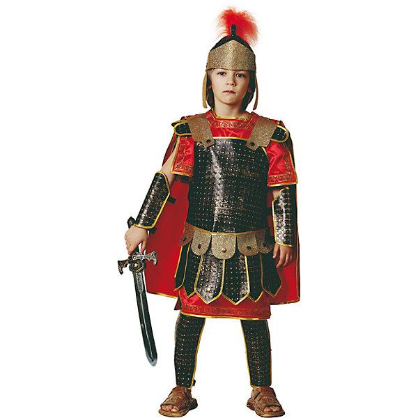 Карнавальный костюм Римский воин Батик для мальчикаНовинки для праздника<br>Карнавальный костюм Римский воин Батик для мальчика<br>Карнавальный костюм (рубаха, кольчуга с плащом, щиты рук, щиты ног, шлем ,меч)<br>Состав:<br>Полиэстр 100%<br><br>Ширина мм: 450<br>Глубина мм: 80<br>Высота мм: 350<br>Вес г: 250<br>Возраст от месяцев: 72<br>Возраст до месяцев: 84<br>Пол: Мужской<br>Возраст: Детский<br>Размер: 122,116<br>SKU: 7224585