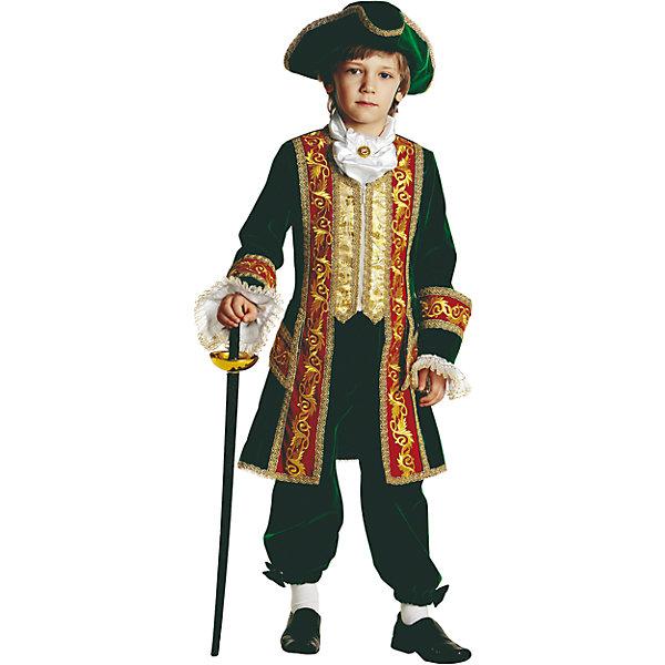 Карнавальный костюм Пётр 1 Батик для мальчикаКарнавальные костюмы для мальчиков<br>Карнавальный костюм Пётр 1 Батик для мальчика<br>Карнавальный костюм (камзол, манжеты, бриджи, жабо , треуголка, шпага)<br>Состав:<br>Полиэстр 100%<br><br>Ширина мм: 450<br>Глубина мм: 80<br>Высота мм: 350<br>Вес г: 250<br>Возраст от месяцев: 84<br>Возраст до месяцев: 96<br>Пол: Мужской<br>Возраст: Детский<br>Размер: 128,116,122<br>SKU: 7224588