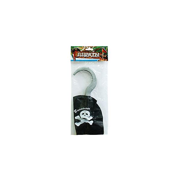 AB Пиратский крюк 16,5смКарнавальные аксессуары для детей<br>Характеристики:<br><br>• возраст: от 3 лет;<br>• тип игрушки: пиратский крюк;<br>• вес: 37 гр;<br>• длина: 16,5 см;<br>• размеры: 2х14х34 см;<br>• материал: пластик;<br>• бренд: AB;<br>• упаковка: пакет;<br>• страна производитель: Китай.<br><br>AB « Пиратский крюк» 16,5см – незаменимая вещь для веселой и увлекательной игры в пиратов. Ребенок сможет почувствовать себя настоящим морским разбойником и разыграть удивительную сценку. <br><br>Крюк для пирата выполнен из пластика. Его длина составляет 16,5 см. Сам крюк имеет серый цвет, а нарукавник – черный. На нем изображен пиратский символ. Материалы прошли проверку на безопасность, поэтому крюк подойдет для детей от трех лет. <br><br>AB « Пиратский крюк» 16,5см  можно купить в нашем интернет-магазине.<br>Ширина мм: 20; Глубина мм: 140; Высота мм: 340; Вес г: 37; Возраст от месяцев: 36; Возраст до месяцев: 2147483647; Пол: Мужской; Возраст: Детский; SKU: 7224654;