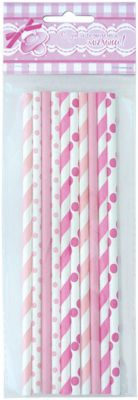 Патибум BA Трубочки бумажные розовое ассорти 10шт