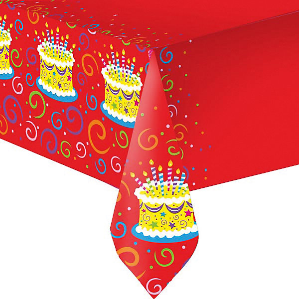 F 140см X 180см Скатерть полиэтиленовая Торт яркийНовинки для праздника<br>Характеристики:<br><br>• возраст: от 3 лет;<br>• тип игрушки: скатерть;<br>• количество: 1 шт;<br>• цвет: красный;<br>• вес: 86 гр;<br>• размеры: 0,5х22х28,5 см;<br>• материал: полиэтилен;<br>• бренд: Патибум;<br>• страна производитель: Россия.<br><br>Скатерть полиэтиленовая «Торт яркий»  подойдет для организации детской вечеринки, дня рождения и других праздников. Скатерть выполнена из полиэтилена и имеет размер 140х180см. Данная скатерть входит в состав коллекции праздничной одноразовой посуды «Торт яркий» и лучше всего использовать ее для сервировки праздничного стола вместе с другими элементами из этой коллекции (тарелочки, стаканчики и карнавальные аксессуары коллекции).<br><br>Изделиее выполнено из качественных материалов, предназначенных для детей возрастом от трех лет. Такая скатерть станет отличным дополнением праздничного настроения. Такая расцветка понравится и мальчикам, и девочкам.<br><br>Скатерть полиэтиленовая «Торт яркий»  можно купить в нашем интернет-магазине.<br>Ширина мм: 5; Глубина мм: 220; Высота мм: 285; Вес г: 86; Возраст от месяцев: 36; Возраст до месяцев: 2147483647; Пол: Унисекс; Возраст: Детский; SKU: 7224677;