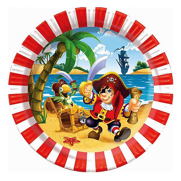 F 23см Тарелки бумажные ламинированные Веселый Пират 6штНовинки для праздника<br>Характеристики:<br><br>• возраст: от 3 лет;<br>• тип игрушки: тарелки;<br>• количество: 6 шт;<br>• размер тарелки: 23 см;<br>• вес: 100  гр;<br>• размеры: 0,5х25х32 см;<br>• материал: бумага;<br>• бренд: Патибум;<br>• страна производитель: Россия.<br><br>Тарелки бумажные ламинированные «Веселый Пират» 6шт подойдут для организации детской вечеринки, дня рождения и других праздников. Тарелки выполнены из бумаги и имеют размер 23 см. Одноразовая посуда ламинирована для большей прочности. На них изображены яркие картинки. Данные тарелки входят в состав коллекции праздничной одноразовой посуды «Веселый Пират» и лучше всего их использовать для сервировки праздничного стола вместе с другими элементами из этой коллекции (стаканчики, скатерть и карнавальные аксессуары коллекции). <br><br>Изделия выполнены из качественных материалов, предназначенных для детей возрастом от трех лет. Такая посуда в виде тарелочек станет отличным дополнением праздничного настроения. А эта  расцветка особенно понравится мальчикам и девочкам, любящим играть в пиратов.<br><br>Тарелки бумажные ламинированные «Веселый Пират» 6шт можно купить в нашем интернет-магазине.<br><br>Ширина мм: 5<br>Глубина мм: 250<br>Высота мм: 320<br>Вес г: 100<br>Возраст от месяцев: 36<br>Возраст до месяцев: 2147483647<br>Пол: Мужской<br>Возраст: Детский<br>SKU: 7224682