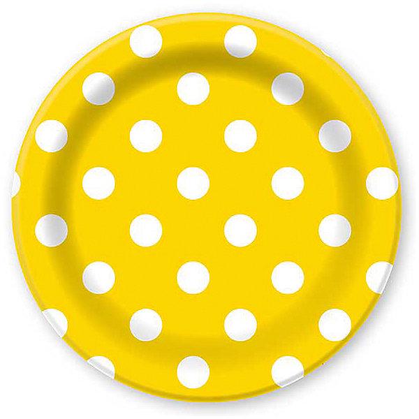 F 23см Тарелки бумажные ламинированные Горошек Желтый 6штНовинки для праздника<br>Характеристики:<br><br>• возраст: от 3 лет;<br>• тип игрушки: тарелки;<br>• количество: 6 шт;<br>• размер тарелки: 23 см;<br>• цвет: желтый;<br>• вес: 91  гр;<br>• размеры: 0,5х25х32 см;<br>• материал: бумага;<br>• бренд: Патибум;<br>• страна производитель: Россия.<br><br>Тарелки бумажные ламинированные «Горошек Желтый» 6шт подойдут для организации детской вечеринки, дня рождения и других праздников. Тарелки выполнены из бумаги и имеют размер 23 см. Одноразовая посуда ламинирована для большей прочности. Они имеют расцветку в крупный горошек. Данные тарелки входят в состав коллекции праздничной одноразовой посуды «Горошек Желтый» и лучше всего их использовать для сервировки праздничного стола вместе с другими элементами из этой коллекции.<br><br>Изделия выполнены из качественных материалов, предназначенных для детей возрастом от трех лет. Такая посуда в виде тарелочек станет отличным дополнением праздничного настроения. А эта  расцветка понравится и мальчикам, и девочкам.<br> <br>Тарелки бумажные ламинированные «Горошек Желтый» 6шт можно купить в нашем интернет-магазине.<br><br>Ширина мм: 5<br>Глубина мм: 250<br>Высота мм: 320<br>Вес г: 91<br>Возраст от месяцев: 36<br>Возраст до месяцев: 2147483647<br>Пол: Унисекс<br>Возраст: Детский<br>SKU: 7224685