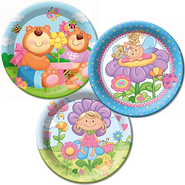 F 23см Тарелки бумажные ламинированные Детская коллекция 6штНовинки для праздника<br>Характеристики:<br><br>• возраст: от 3 лет;<br>• тип игрушки: тарелки;<br>• количество: 6 шт;<br>• размер тарелки: 23 см;<br>• вес: 100  гр;<br>• размеры: 0,5х25х32 см;<br>• материал: бумага;<br>• бренд: Патибум;<br>• страна производитель: Россия.<br><br>Тарелки бумажные ламинированные «Детская коллекция» 6шт подойдут для организации детской вечеринки, дня рождения и других праздников. Круглые тарелки выполнены из бумаги и имеют размер 23 см. Одноразовая посуда ламинирована для большей прочности. На них изображены яркие картинки. Данные тарелки входят в состав коллекции праздничной одноразовой посуды «Детская коллекция» и лучше всего их использовать для сервировки праздничного стола вместе с другими элементами из этой коллекции (стаканчики, скатерть и карнавальные аксессуары коллекции)<br><br>Изделия выполнены из качественных материалов, предназначенных для детей возрастом от трех лет. Такая посуда в виде тарелочек станет отличным дополнением праздничного настроения. А эта  расцветка понравится и мальчикам, и девочкам.<br> <br>Тарелки бумажные ламинированные «Детская коллекция» 6шт можно купить в нашем интернет-магазине.<br><br>Ширина мм: 5<br>Глубина мм: 250<br>Высота мм: 320<br>Вес г: 91<br>Возраст от месяцев: 36<br>Возраст до месяцев: 2147483647<br>Пол: Унисекс<br>Возраст: Детский<br>SKU: 7224689
