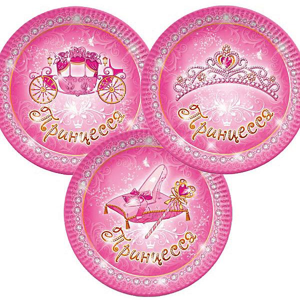 Тарелки Патибум Моя принцесса 23 см. ламинированные, 6 шт.Тарелки<br>Характеристики:<br><br>• возраст: от 3 лет;<br>• тип игрушки: тарелки;<br>• количество: 6 шт;<br>• размер тарелки: 23 см;<br>• вес: 91  гр;<br>• размеры: 0,5х25х32 см;<br>• материал: бумага;<br>• бренд: Патибум;<br>• страна производитель: Россия.<br><br>Тарелки бумажные ламинированные «Моя Принцесса» 6шт подойдут для организации детской вечеринки, дня рождения и других праздников. Круглые тарелки выполнены из бумаги и имеют размер 23 см. Одноразовая посуда ламинирована для большей прочности. На них изображены яркие картинки. Данные тарелки входят в состав коллекции праздничной одноразовой посуды «Моя Принцесса» и лучше всего их использовать для сервировки праздничного стола вместе с другими элементами из этой коллекции (стаканчики, скатерть и карнавальные аксессуары коллекции)<br><br>Изделия выполнены из качественных материалов, предназначенных для детей возрастом от трех лет. Такая посуда в виде тарелочек станет отличным дополнением праздничного настроения. А эта  расцветка особенно понравится девочкам.<br> <br>Тарелки бумажные ламинированные «Моя Принцесса» 6шт можно купить в нашем интернет-магазине.<br>Ширина мм: 5; Глубина мм: 250; Высота мм: 320; Вес г: 100; Возраст от месяцев: 36; Возраст до месяцев: 2147483647; Пол: Женский; Возраст: Детский; SKU: 7224691;