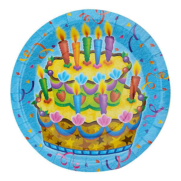 F 23см Тарелки бумажные ламинированные Праздничный торт 6штТарелки<br>Характеристики:<br><br>• возраст: от 3 лет;<br>• тип игрушки: тарелки;<br>• количество: 6 шт;<br>• размер тарелки: 23 см;<br>• вес: 100  гр;<br>• размеры: 0,5х25х32 см;<br>• материал: бумага;<br>• бренд: Патибум;<br>• страна производитель: Россия.<br><br>Тарелки бумажные ламинированные «Праздничный торт» 6шт подойдут для организации детской вечеринки, дня рождения и других праздников. Круглые тарелки выполнены из бумаги и имеют размер 23 см. Одноразовая посуда ламинирована для большей прочности. На них изображены яркие картинки. Данные тарелки входят в состав коллекции праздничной одноразовой посуды «Праздничный торт» и лучше всего их использовать для сервировки праздничного стола вместе с другими элементами из этой коллекции (стаканчики, скатерть и карнавальные аксессуары коллекции)<br><br>Изделия выполнены из качественных материалов, предназначенных для детей возрастом от трех лет. Такая посуда в виде тарелочек станет отличным дополнением праздничного настроения. А эта  расцветка понравится и мальчикам, и девочкам.<br> <br>Тарелки бумажные ламинированные «Праздничный торт» 6шт можно купить в нашем интернет-магазине.<br>Ширина мм: 5; Глубина мм: 250; Высота мм: 320; Вес г: 100; Возраст от месяцев: 36; Возраст до месяцев: 2147483647; Пол: Унисекс; Возраст: Детский; SKU: 7224692;