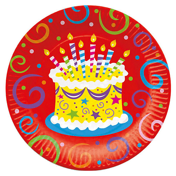 F 23см Тарелки бумажные ламинированные Торт яркий 6штТарелки<br>Характеристики:<br><br>• возраст: от 3 лет;<br>• тип игрушки: тарелки;<br>• количество: 6 шт;<br>• размер тарелки: 23 см;<br>• вес: 100  гр;<br>• размеры: 0,5х25х32 см;<br>• материал: бумага;<br>• бренд: Патибум;<br>• страна производитель: Россия.<br><br>Тарелки бумажные ламинированные «Торт яркий» 6шт подойдут для организации детской вечеринки, дня рождения и других праздников. Круглые тарелки выполнены из бумаги и имеют размер 23 см. Одноразовая посуда ламинирована для большей прочности. На них изображены яркие картинки. Данные тарелки входят в состав коллекции праздничной одноразовой посуды «Торт яркий»  и лучше всего их использовать для сервировки праздничного стола вместе с другими элементами из этой коллекции (стаканчики, скатерть и карнавальные аксессуары коллекции)<br><br>Изделия выполнены из качественных материалов, предназначенных для детей возрастом от трех лет. Такая посуда в виде тарелочек станет отличным дополнением праздничного настроения. А эта  расцветка понравится и мальчикам, и девочкам.<br> <br>Тарелки бумажные ламинированные «Торт яркий» 6шт можно купить в нашем интернет-магазине.<br>Ширина мм: 5; Глубина мм: 250; Высота мм: 320; Вес г: 91; Возраст от месяцев: 36; Возраст до месяцев: 2147483647; Пол: Унисекс; Возраст: Детский; SKU: 7224694;