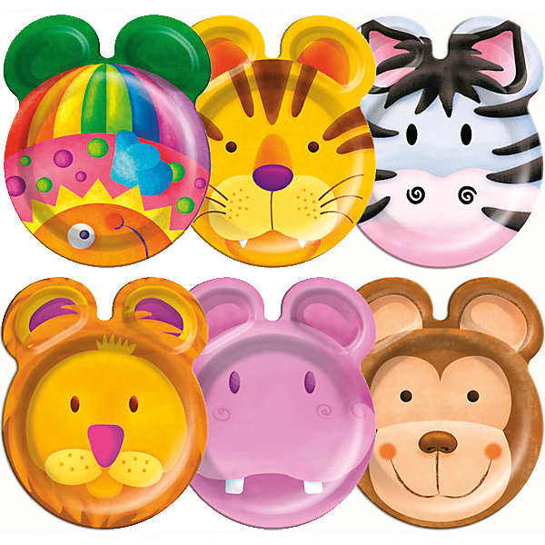 Тарелки фигурные Патибум Забавные зверята 23 см. бумажные ламинированные, 8 шт.Тарелки<br>Характеристики:<br><br>• возраст: от 3 лет;<br>• тип игрушки: тарелки;<br>• количество: 6 шт;<br>• размер тарелки: 23 см;<br>• вес: 100  гр;<br>• размеры: 0,5х25х32 см;<br>• материал: бумага;<br>• бренд: Патибум;<br>• страна производитель: Россия.<br><br>Тарелки бумажные ламинированные «Забавные зверята» 6шт подойдут для организации детской вечеринки, дня рождения и других праздников. Круглые тарелки выполнены из бумаги и имеют размер 23 см. Одноразовая посуда ламинирована для большей прочности. На них изображены яркие картинки. Данные тарелки входят в состав коллекции праздничной одноразовой посуды «Забавные зверята»  и лучше всего их использовать для сервировки праздничного стола вместе с другими элементами из этой коллекции (стаканчики, скатерть и карнавальные аксессуары коллекции)<br><br>Изделия выполнены из качественных материалов, предназначенных для детей возрастом от трех лет. Такая посуда в виде тарелочек станет отличным дополнением праздничного настроения. А эта  расцветка понравится и мальчикам, и девочкам.<br><br>Тарелки бумажные ламинированные «Забавные зверята» 6шт можно купить в нашем интернет-магазине.<br>Ширина мм: 5; Глубина мм: 250; Высота мм: 320; Вес г: 132; Возраст от месяцев: 36; Возраст до месяцев: 2147483647; Пол: Унисекс; Возраст: Детский; SKU: 7224696;