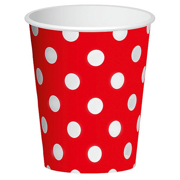 Бумажные стаканы Патибум Красный горошек, 6 шт 250 млСтаканы<br>Характеристики:<br><br>• возраст: от 3 лет;<br>• тип игрушки: стаканы;<br>• количество: 6 шт;<br>• объем: 250 мл;<br>• цвет: красный;<br>• вес: 38  гр;<br>• размеры: 7,5х13х24,5 см;<br>• материал: бумага;<br>• бренд: Патибум;<br>• страна производитель: Россия.<br><br>Стаканы бумажные «Горошек Красный» 6шт подойдут для организации детской вечеринки, дня рождения и других праздников. Стаканы выполнены из бумаги и имеют объем 250 мл. Они имеют расцветку в крупный горошек. Данные тарелки входят в состав коллекции праздничной одноразовой посуды «Горошек Красный» и лучше всего их использовать для сервировки праздничного стола вместе с другими элементами из этой коллекции.<br><br>Изделия выполнены из качественных материалов, предназначенных для детей возрастом от трех лет. Такая посуда в виде стаканчиков станет отличным дополнением праздничного настроения. А эта  расцветка понравится и мальчикам, и девочкам.<br> <br>Стаканы бумажные «Горошек Красный» 6шт можно купить в нашем интернет-магазине.<br><br>Ширина мм: 75<br>Глубина мм: 130<br>Высота мм: 245<br>Вес г: 38<br>Возраст от месяцев: 36<br>Возраст до месяцев: 2147483647<br>Пол: Унисекс<br>Возраст: Детский<br>SKU: 7224701