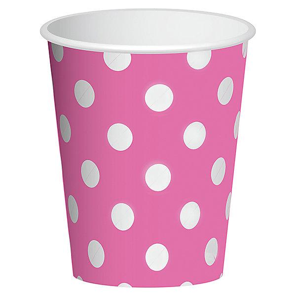 Стаканы Патибум Горошек розовый 250 мл., 6 шт.Стаканы<br>Характеристики:<br><br>• возраст: от 3 лет;<br>• тип игрушки: стаканы;<br>• количество: 6 шт;<br>• объем: 250 мл;<br>• цвет: розовый;<br>• вес: 38  гр;<br>• размеры: 7,5х13х24,5 см;<br>• материал: бумага;<br>• бренд: Патибум;<br>• страна производитель: Россия.<br><br>Стаканы бумажные «Горошек Розовый» 6шт подойдут для организации детской вечеринки, дня рождения и других праздников. Стаканы выполнены из бумаги и имеют объем 250 мл. Они имеют расцветку в крупный горошек. Данные тарелки входят в состав коллекции праздничной одноразовой посуды «Горошек Розовый» и лучше всего их использовать для сервировки праздничного стола вместе с другими элементами из этой коллекции.<br><br>Изделия выполнены из качественных материалов, предназначенных для детей возрастом от трех лет. Такая посуда в виде стаканчиков станет отличным дополнением праздничного настроения. А эта  расцветка понравится и мальчикам, и девочкам.<br> <br>Стаканы бумажные «Горошек Розовый» 6шт можно купить в нашем интернет-магазине.<br>Ширина мм: 75; Глубина мм: 130; Высота мм: 245; Вес г: 38; Возраст от месяцев: 36; Возраст до месяцев: 2147483647; Пол: Унисекс; Возраст: Детский; SKU: 7224702;