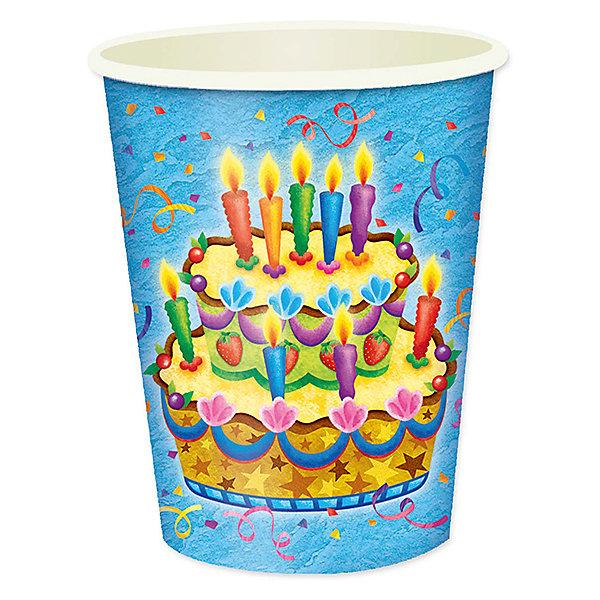 F 250мл Стаканы бумажные Праздничный торт 6штСтаканы<br>Характеристики:<br><br>• возраст: от 3 лет;<br>• тип игрушки: стаканы;<br>• количество: 6 шт;<br>• объем: 250 мл;<br>• вес: 37  гр;<br>• размеры: 7,5х13х24,5 см;<br>• материал: бумага;<br>• бренд: Патибум;<br>• страна производитель: Россия.<br><br>Стаканы бумажные «Праздничный торт» 6шт подойдут для организации детской вечеринки, дня рождения и других праздников. Стаканы выполнены из бумаги и имеют объем 250 мл. На них изображены яркие картинки. Данные стаканы входят в состав коллекции праздничной одноразовой посуды «Праздничный торт» и лучше всего их использовать для сервировки праздничного стола вместе с другими элементами из этой коллекции (тарелочки, скатерть и карнавальные аксессуары коллекции). <br><br>Изделия выполнены из качественных материалов, предназначенных для детей возрастом от трех лет. Такая посуда в виде стаканчиков станет отличным дополнением праздничного настроения. А эта  расцветка понравится и мальчикам, и девочкам. <br><br>Стаканы бумажные «Праздничный торт» 6шт можно купить в нашем интернет-магазине.<br>Ширина мм: 75; Глубина мм: 130; Высота мм: 245; Вес г: 38; Возраст от месяцев: 36; Возраст до месяцев: 2147483647; Пол: Унисекс; Возраст: Детский; SKU: 7224705;