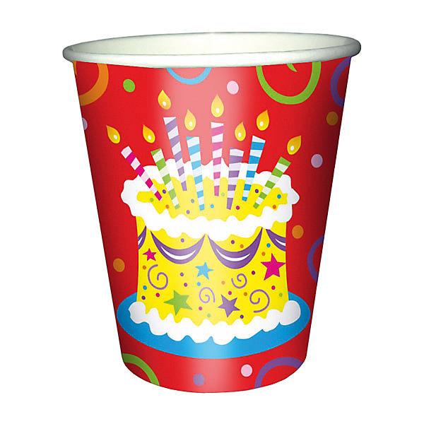 F 250мл Стаканы бумажные Торт яркий 6штСтаканы<br>Характеристики:<br><br>• возраст: от 3 лет;<br>• тип игрушки: стаканы;<br>• количество: 6 шт;<br>• объем: 250 мл;<br>• вес: 37  гр;<br>• размеры: 7,5х13х24,5 см;<br>• материал: бумага;<br>• бренд: Патибум;<br>• страна производитель: Россия.<br><br>Стаканы бумажные «Торт яркий» 6шт подойдут для организации детской вечеринки, дня рождения и других праздников. Стаканы выполнены из бумаги и имеют объем 250 мл. На них изображены яркие картинки. Данные стаканы входят в состав коллекции праздничной одноразовой посуды «Торт яркий» и лучше всего их использовать для сервировки праздничного стола вместе с другими элементами из этой коллекции (тарелочки, скатерть и карнавальные аксессуары коллекции). <br><br>Изделия выполнены из качественных материалов, предназначенных для детей возрастом от трех лет. Такая посуда в виде стаканчиков станет отличным дополнением праздничного настроения. А эта  расцветка понравится и мальчикам, и девочкам. <br><br>Стаканы бумажные «Торт яркий» 6шт можно купить в нашем интернет-магазине.<br><br>Ширина мм: 75<br>Глубина мм: 130<br>Высота мм: 245<br>Вес г: 38<br>Возраст от месяцев: 36<br>Возраст до месяцев: 2147483647<br>Пол: Унисекс<br>Возраст: Детский<br>SKU: 7224707