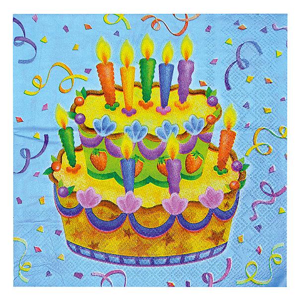 F 33см X 33см Салфетки  Праздничный торт 20штСалфетки и скатерти<br>Салфетки,размером 33х33см. Данные салфетки входят в состав коллекции праздничной одноразовой посуды Праздничный торт и лучше всего их использовать для сервировки праздничного стола вместе с другими элементами из этой коллекции (стаканчики, тарелочки, скатерть и карнавальные аксессуары коллекции Праздничный торт).<br><br>Ширина мм: 100<br>Глубина мм: 185<br>Высота мм: 240<br>Вес г: 88<br>Возраст от месяцев: 36<br>Возраст до месяцев: 2147483647<br>Пол: Унисекс<br>Возраст: Детский<br>SKU: 7224708