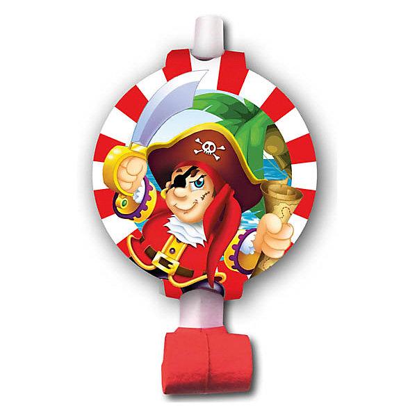 F Язычок-гудок с карточкой Веселый Пират 6штНовинки для праздника<br>Музыкальная игрушка - язычок-гудок. Игрушка разворачивается при направленном потоке воздуха и издает характерный звук. Данная игрушка является карнавальным аксессуаром в праздничной коллекции одноразовой посуды Веселый Пират. В упаковке содержится шесть язычков-гудков одного дизайна.<br><br>Ширина мм: 30<br>Глубина мм: 200<br>Высота мм: 220<br>Вес г: 43<br>Возраст от месяцев: 60<br>Возраст до месяцев: 2147483647<br>Пол: Мужской<br>Возраст: Детский<br>SKU: 7224738