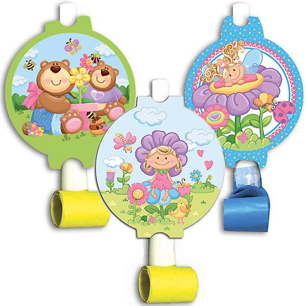 F Язычок-гудок с карточкой Детская коллекция 6штДетские дудочки<br>Характеристики:<br><br>• возраст: от 5 лет;<br>• тип игрушки: язычок-гудок;<br>• количество: 6 шт;<br>• вес: 59 гр;<br>• размеры: 3х20х22 см;<br>• материал: бумага;<br>• бренд: Патибум;<br>• страна производитель: Россия.<br><br>Язычок-гудок с карточкой «Детская коллекция» 6шт подойдет для организации детской вечеринки, дня рождения и других праздников. Музыкальная игрушка - язычок-гудок разворачивается при направленном потоке воздуха и издает характерный звук. Он выполнен из бумаги, также на нем изображены яркие картинки. Данные гудочки входят в состав коллекции праздничной одноразовой посуды «Детская коллекция» и лучше всего их использовать для сервировки праздничного стола вместе с другими элементами из этой коллекции (стаканчики, скатерть, тарелочки и карнавальные аксессуары коллекции).<br><br>Изделия выполнены из качественных материалов, предназначенных для детей возрастом от пяти лет. Такие игрушки в виде язычков-гудков станут отличным дополнением праздничного настроения. А эта  расцветка понравится и мальчикам, и девочкам. <br><br>Язычок-гудок с карточкой «Детская коллекция» 6шт можно купить в нашем интернет-магазине.<br>Ширина мм: 30; Глубина мм: 200; Высота мм: 220; Вес г: 59; Возраст от месяцев: 60; Возраст до месяцев: 2147483647; Пол: Унисекс; Возраст: Детский; SKU: 7224740;