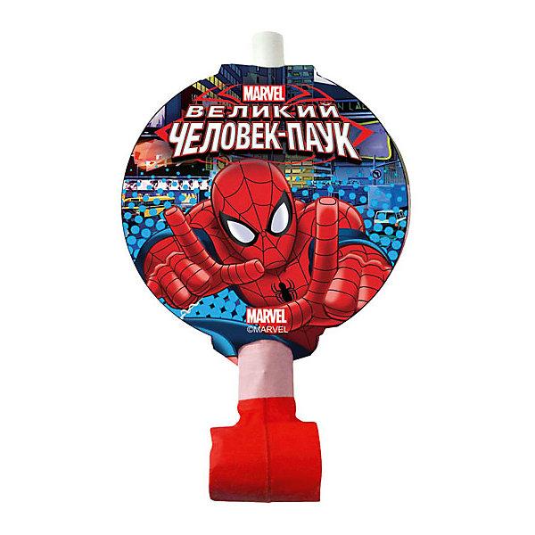 F Язычок-гудок с карточкой Человек-Паук 6штДетские дудочки<br>Веселый праздник непременно должен быть громким! А чтобы он был просто оглушающим, воспользуйтесь нашими язычками-гудками. Данные язычки-гудки сделаны в стиле Человека-паука и придутся кстати на вечеринке, организованной в этом же стиле. Звук из таких язычков извлекается очень легко, а сколько радости они приносят!<br><br>Ширина мм: 30<br>Глубина мм: 200<br>Высота мм: 220<br>Вес г: 49<br>Возраст от месяцев: 60<br>Возраст до месяцев: 2147483647<br>Пол: Мужской<br>Возраст: Детский<br>SKU: 7224747