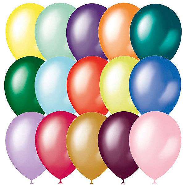M 14/35см Металлик и перламутр ассорти 50штВоздушные шары<br>Воздушные шары из натурального латекса. Ассорти из 12 цветов воздушных шаров двух типов - металлик и перламутр. Ассорти цветов собрано в случайном соотношении, исключая воздушные шары металлик темных цветов и серебрянного цвета, а также цвета воздушных шаров перламут: белый, персиковый и слоновая кость. Воздушные шары производства Латекс Оксидентл характеризуются эластичным латексом, равномерным окрасом шара и высоким качеством. Эти шары удобны оформителям в работе благодаря хвостику, который растягивается до 2см. Воздушные шары типа металлик характеризуются ярко выраженным металлическим блеском, они непрозрачны и имеют активный блик. Воздушные шары типа перламутр характеризуются более нежными, чем у металлика, цветами воздушных шаров и имеют более мягкий, рассеянный блик. Воздушные шары металлик и перламутр в ассорти предназначены для оформления и продажи в розницу.<br><br>Ширина мм: 180<br>Глубина мм: 200<br>Высота мм: 20<br>Вес г: 220<br>Возраст от месяцев: 36<br>Возраст до месяцев: 2147483647<br>Пол: Унисекс<br>Возраст: Детский<br>SKU: 7224766