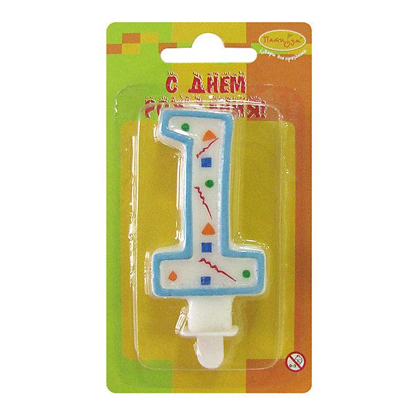 Свеча для торта Патибум Цифра 1 7 см., голубое конфеттиДетские свечи для торта<br>Характеристики:<br><br>• возраст: от 1 лет;<br>• тип игрушки: свеча;<br>• вес: 22 гр;<br>• размеры: 1,5х7х13 см;<br>• материал: парафин;<br>• бренд: Патибум; <br>• страна производитель: Россия.<br><br> MC Свеча Цифра 1 «Голубое Конфетти» 7см - это оригинальная фигурка-свечка для торта, выполняющая декоративную функцию.  Оригинальные свечи в форме цифры «1» хорошо использовать для украшения праздничного стола, также ими можно украсить торт или десерт на День рождения. Свечи для торта отличаются высоким качеством, они не вредны для детей от одного года и, конечно же, их можно использовать с продуктами. Температура хранения и транспортировки от -10 до +25С. <br><br>Вместе с этой свечкой из натурального парафина можно использовать и другие из этой серии. Высота украшения для торта составляет 7 см. Она легко устанавливается в торт и вынимается. Свеча входит в коллекцию свечей «голубое конфетти». <br><br>MC Свечу Цифра 1 «Голубое Конфетти» 7смможно купить в нашем интернет-магазине.<br>Ширина мм: 15; Глубина мм: 70; Высота мм: 130; Вес г: 22; Возраст от месяцев: 12; Возраст до месяцев: 2147483647; Пол: Унисекс; Возраст: Детский; SKU: 7224776;