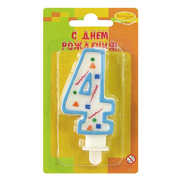 MC Свеча Цифра 4 Голубое Конфетти 7смДетские свечи для торта<br>Характеристики:<br><br>• возраст: от 3 лет;<br>• тип игрушки: свеча;<br>• вес: 22 гр;<br>• размеры: 1,5х7х13 см;<br>• материал: парафин;<br>• бренд: Патибум; <br>• страна производитель: Россия.<br><br>MC Свеча Цифра 3 «Голубое Конфетти» 7см - это оригинальная фигурка-свечка для торта, выполняющая декоративную функцию.  Оригинальные свечи в форме цифры «3» хорошо использовать для украшения праздничного стола, также ими можно украсить торт или десерт на День рождения. Свечи для торта отличаются высоким качеством, они не вредны для детей от трех  лет и, конечно же, их можно использовать с продуктами. Температура хранения и транспортировки от -10 до +25С. <br><br>Вместе с этой свечкой из натурального парафина можно использовать и другие из этой серии. Высота украшения для торта составляет 7 см. Она легко устанавливается в торт и вынимается. Свеча входит в коллекцию свечей «голубое конфетти».  <br><br>MC Свечу Цифра 4 «Голубое Конфетти» 7см можно купить в нашем интернет-магазине.<br>Ширина мм: 15; Глубина мм: 70; Высота мм: 130; Вес г: 22; Возраст от месяцев: 36; Возраст до месяцев: 2147483647; Пол: Унисекс; Возраст: Детский; SKU: 7224783;
