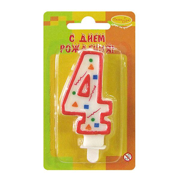 Свеча для торта Патибум Цифра 4 7 см., красное конфеттиДетские свечи для торта<br>Характеристики:<br><br>• возраст: от 3 лет;<br>• тип игрушки: свеча;<br>• вес: 22 гр;<br>• размеры: 1,5х7х13 см;<br>• материал: парафин;<br>• бренд: Патибум; <br>• страна производитель: Россия.<br><br>MC Свеча Цифра 3 «Красное Конфетти» 7см - это оригинальная фигурка-свечка для торта, выполняющая декоративную функцию.  Оригинальные свечи в форме цифры «3» хорошо использовать для украшения праздничного стола, также ими можно украсить торт или десерт на День рождения. Свечи для торта отличаются высоким качеством, они не вредны для детей от трех  лет и, конечно же, их можно использовать с продуктами. Температура хранения и транспортировки от -10 до +25С. <br><br>Вместе с этой свечкой из натурального парафина можно использовать и другие из этой серии. Высота украшения для торта составляет 7 см. Она легко устанавливается в торт и вынимается. Свеча входит в коллекцию свечей «красное конфетти».  <br><br>MC Свечу Цифра 4 «Красное Конфетти» 7см можно купить в нашем интернет-магазине.<br>Ширина мм: 15; Глубина мм: 70; Высота мм: 130; Вес г: 22; Возраст от месяцев: 36; Возраст до месяцев: 2147483647; Пол: Унисекс; Возраст: Детский; SKU: 7224784;