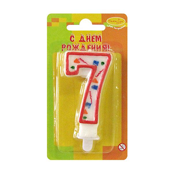 MC Свеча Цифра 7 Красное Конфетти 7смДетские свечи для торта<br>Декоративные свечи для торта. Оригинальные свечи в форме цифры 7 из коллекции свечей красное конфетти. Отличное решение для праздничного украшения торта, оформления дессерта ко Дню рождения или юбилею. Свечи цифры для торта отличаются высоким качеством. Высота таких свечей для торта составляет 8см.<br><br>Ширина мм: 15<br>Глубина мм: 70<br>Высота мм: 130<br>Вес г: 22<br>Возраст от месяцев: 36<br>Возраст до месяцев: 2147483647<br>Пол: Унисекс<br>Возраст: Детский<br>SKU: 7224790