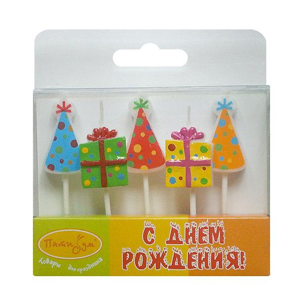 MC Свечи Подарки, Колпачки 5шт 7смНовинки для праздника<br>Характеристики:<br><br>• возраст: от 3 лет;<br>• тип игрушки: свеча;<br>• вес: 24 гр;<br>• количество: 5 шт;<br>• размеры: 2х10х10 см;<br>• материал: парафин;<br>• бренд: Патибум; <br>• страна производитель: Россия.<br><br>MC Свечи «Подарки, Колпачки» 5шт 7см -  это свечки для торта, выполняющие декоративную функцию.  Оригинальные свечи  хорошо использовать для украшения праздничного стола, также ими можно украсить торт или десерт на День рождения. Свечи для торта отличаются высоким качеством, они не вредны для детей от трех  лет и, конечно же, их можно использовать с продуктами. Температура хранения и транспортировки от -10 до +25С. <br><br>Вместе с этой свечкой из натурального парафина можно использовать и другие из этой серии. Этот набор свечек из 5 штук с держателями. Они легко устанавливаются в торт и вынимаются. Красивые свечки станут отличным дополнением праздника.<br><br>MC Свечи «Подарки, Колпачки» 5шт 7см можно купить в нашем интернет-магазине.<br><br>Ширина мм: 20<br>Глубина мм: 100<br>Высота мм: 100<br>Вес г: 24<br>Возраст от месяцев: 36<br>Возраст до месяцев: 2147483647<br>Пол: Унисекс<br>Возраст: Детский<br>SKU: 7224810