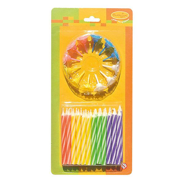 MCСвечи 2-х цветные 24/12шт с держателями 6смНовинки для праздника<br>Характеристики:<br><br>• возраст: от 3 лет;<br>• тип игрушки: свеча;<br>• вес: 36 гр;<br>• количество: 24/12 шт;<br>• размеры: 1,5х5,5х12 см;<br>• материал: парафин;<br>• бренд: Патибум; <br>• страна производитель: Россия.<br><br>MC Свечи 2-х цветные 24/12шт с держателями 6см -  это свечки для торта, выполняющие декоративную функцию.  Оригинальные свечи в полосочку хорошо использовать для украшения праздничного стола, также ими можно украсить торт или десерт на День рождения. Свечи для торта отличаются высоким качеством, они не вредны для детей от трех  лет и, конечно же, их можно использовать с продуктами. Температура хранения и транспортировки от -10 до +25С. <br><br>Вместе с этой свечкой из натурального парафина можно использовать и другие из этой серии. Этот набор свечек из 24 штук или 12 штук с держателями  легко устанавливается в торт и вынимается. Красивые свечки станут отличным дополнением праздника.<br><br>MC Свечи 2-х цветные 24/12шт с держателями 6см можно купить в нашем интернет-магазине<br>Ширина мм: 15; Глубина мм: 55; Высота мм: 120; Вес г: 36; Возраст от месяцев: 36; Возраст до месяцев: 2147483647; Пол: Унисекс; Возраст: Детский; SKU: 7224824;
