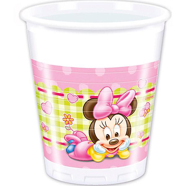 Pc 200мл Стаканы пластиковые Малышка Минни 8штСтаканы<br>Характеристики:<br><br>• возраст: от 3 лет;<br>• тип игрушки: стаканы;<br>• количество: 8 шт;<br>• объем: 200 мл;<br>• вес: 67  гр;<br>• размеры: 8х8х10 см;<br>• материал: пластик;<br>• бренд: Патибум;<br>• страна производитель: Россия.<br><br>Стаканы пластиковые «Малышка Минни» 8шт подойдут для организации детской вечеринки, дня рождения и других праздников. Стаканы выполнены из пластика и имеют объем 200 мл. На них изображены яркие картинки. В данном случае они с изображением Малышки Минни.<br><br>Изделия выполнены из качественных материалов, предназначенных для детей возрастом от трех лет. Такая посуда в виде стаканчиков станет отличным дополнением праздничного настроения. А эта  расцветка понравится особенно девочкам.<br><br>Стаканы пластиковые «Малышка Минни» 8шт  можно купить в нашем интернет-магазине.<br>Ширина мм: 80; Глубина мм: 80; Высота мм: 100; Вес г: 67; Возраст от месяцев: 36; Возраст до месяцев: 2147483647; Пол: Женский; Возраст: Детский; SKU: 7224839;