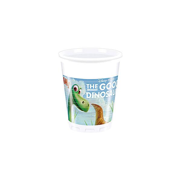 Pc 200мл Стаканы пластиковые Хороший Динозавр 8штСтаканы<br>Характеристики:<br><br>• возраст: от 3 лет;<br>• тип игрушки: стаканы;<br>• количество: 8 шт;<br>• объем: 200 мл;<br>• вес: 67  гр;<br>• размеры: 8х8х10 см;<br>• материал: пластик;<br>• бренд: Патибум;<br>• страна производитель: Россия.<br><br>Стаканы пластиковые «Хороший Динозавр» 8шт подойдут для организации детской вечеринки, дня рождения и других праздников. Стаканы выполнены из пластика и имеют объем 200 мл. На них изображены яркие картинки. В данном случае они с изображением Динозавра.<br><br>Изделия выполнены из качественных материалов, предназначенных для детей возрастом от трех лет. Такая посуда в виде стаканчиков станет отличным дополнением праздничного настроения. А эта  расцветка понравится и мальчикам, и девочкам,  которые увлечены этим героем.<br><br>Стаканы пластиковые «Хороший Динозавр» 8шт  можно купить в нашем интернет-магазине.<br>Ширина мм: 80; Глубина мм: 80; Высота мм: 100; Вес г: 67; Возраст от месяцев: 36; Возраст до месяцев: 2147483647; Пол: Унисекс; Возраст: Детский; SKU: 7224843;