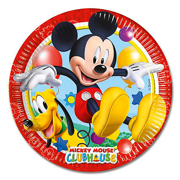 Pc 20см Тарелки бумажные ламинированные Микки Маус 8штНовинки для праздника<br>Тарелки бумажные ламинированные, круглые, диаметром 2см. Данные тарелки входят в состав коллекции праздничной одноразовой посуды Микки Маус и лучше всего их использовать для сервировки праздничного стола вместе с другими элементами из этой коллекции (стаканчики, скатерть и карнавальные аксессуары коллекции Микки Маус).<br><br>Ширина мм: 200<br>Глубина мм: 200<br>Высота мм: 5<br>Вес г: 64<br>Возраст от месяцев: 36<br>Возраст до месяцев: 2147483647<br>Пол: Унисекс<br>Возраст: Детский<br>SKU: 7224845