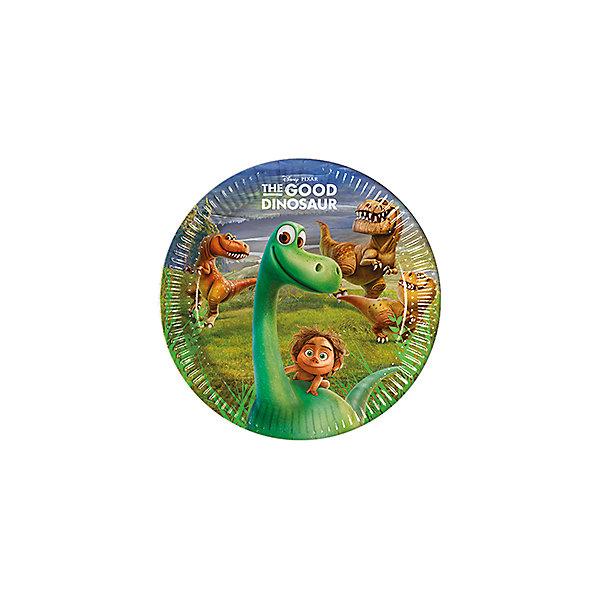 Pc 23см Тарелки бумажные ламинированные Хороший Динозавр 8штНовинки для праздника<br>Характеристики:<br><br>• возраст: от 3 лет;<br>• тип игрушки: тарелки;<br>• количество: 8 шт;<br>• размер тарелки: 20 см;<br>• вес: 64 гр;<br>• размеры: 20х20х0,5 см;<br>• материал: бумага;<br>• бренд: Патибум;<br>• страна производитель: Россия.<br><br>Тарелки бумажные ламинированные «Хороший Динозавр» 8шт подойдут для организации детской вечеринки, дня рождения и других праздников. Круглые тарелки выполнены из бумаги и имеют размер 20 см. Одноразовая посуда ламинирована для большей прочности. На них изображены яркие картинки. Данные тарелки входят в состав коллекции праздничной одноразовой посуды с изображением героев. Для стильного праздника можно использовать также другую посуду из этой серии в одной цветовой гамме.<br><br>Изделия выполнены из качественных материалов, предназначенных для детей возрастом от трех лет. Такая посуда в виде тарелочек станет отличным дополнением праздничного настроения. А эта  расцветка понравится особенно девочкам и мальчикам, увлеченным динозаврами. <br><br> Тарелки бумажные ламинированные «Хороший Динозавр» 8шт можно купить в нашем интернет-магазине.<br><br>Ширина мм: 230<br>Глубина мм: 230<br>Высота мм: 5<br>Вес г: 64<br>Возраст от месяцев: 36<br>Возраст до месяцев: 2147483647<br>Пол: Мужской<br>Возраст: Детский<br>SKU: 7224854