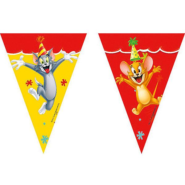 Pc Гирлянда Том и Джерри 2,3мБаннеры и гирлянды для детской вечеринки<br>Характеристики:<br><br>• возраст: от 3 лет;<br>• тип игрушки: гирлянда;<br>• вес: 33 гр;<br>• длинна: 2,3 м;<br>• размеры: 15х21х0,5 см;<br>• материал: бумага;<br>• бренд: Патибум;<br>• страна производитель: Россия.<br><br>Pc Гирлянда «Том и Джерри» 2,3м – отличное украшение для детского праздника. Вечеринка, день рождения или другое торжество пройдет значительно веселее, если украсить помещение бумажными гирляндами.  Длина всего изделия составляет 2,3 метра. По всей длине изображены яркие картинки, которые, несомненно, порадуют детей.<br><br>Гирлянда от «Патибум» входит в большую коллекцию одноразовой посуды и аксессуаров для проведения детских праздников. Поэтому можно подготовиться к нему, украсив все в едином стиле. Тарелки, стаканы, салфетки и аксессуары с любимыми героями понравятся всем детям.<br>Изделие выполнено из качественных материалов, предназначенных для детей возрастом от трех лет. <br><br>Pc Гирлянду  «Том и Джерри» 2,3м можно купить в нашем интернет-магазине.<br><br>Ширина мм: 150<br>Глубина мм: 210<br>Высота мм: 5<br>Вес г: 33<br>Возраст от месяцев: 36<br>Возраст до месяцев: 2147483647<br>Пол: Унисекс<br>Возраст: Детский<br>SKU: 7224857