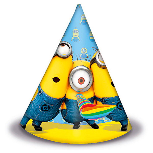 Pc Колпачок Миньоны 6штДетские шляпы и колпаки<br>Характеристики:<br><br>• возраст: от 3 лет;<br>• тип игрушки: колпачок;<br>• количество: 6 шт;<br>• вес: 65 гр;<br>• размеры: 21х21х0,5 см;<br>• материал: бумага;<br>• бренд: Патибум;<br>• страна производитель: Россия.<br><br>Pc Колпачок «Миньоны» 6шт подойдет для организации детской вечеринки, дня рождения и других праздников. Колпачок выполнен из бумаги. На нем изображены яркие картинки. Колпачок из плотного картона – это карнавальный головной убор, который является карнавальным аксессуаром коллекции праздничной одноразовой посуды «Миньоны»  и лучше всего его использовать вместе с другими элементами из этой коллекции.<br><br>Изделия выполнены из качественных материалов, предназначенных для детей возрастом от трех лет. Такая игрушка в виде колпака  станет отличным дополнением праздничного настроения. В упаковке содержится восемь колпачков разного дизайна. Расцветка подойдет и для мальчиков и для девочек. <br><br>Pc Колпачок «Миньоны» 6шт можно купить в нашем интернет-магазине.<br><br>Ширина мм: 210<br>Глубина мм: 210<br>Высота мм: 50<br>Вес г: 65<br>Возраст от месяцев: 36<br>Возраст до месяцев: 2147483647<br>Пол: Унисекс<br>Возраст: Детский<br>SKU: 7224858