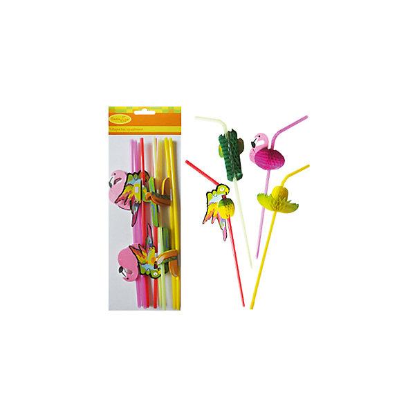 Q Трубочки для коктейля Тропики 8штНовинки для праздника<br>Характеристики:<br><br>• возраст: от 3 лет;<br>• тип игрушки: трубочки;<br>• количество: 8 шт;<br>• вес: 18 гр;<br>• размеры: 11х10х0,5 см;<br>• материал: пластик;<br>• бренд: Quanzhou;<br>• страна производитель: Китай.<br><br>QQ Трубочки для коктейля «Тропики» 8шт подойдут для организации детской вечеринки. Трубочка используется для украшения коктейля  праздничной или торжественной сервировки стола. Возможно сочетание с другими декоративными трубочками для коктейля, фигурками и палочками для коктейля.<br><br>Трубочки выполнены стандартного размера из пластика, поэтому они более прочные. Они абсолютно безвредные для детей возрастом от трех лет. В наборе находится 8 штук розового и желтого цвета.<br><br>QQ Трубочки для коктейля «Тропики» 8шт можно купить в нашем интернет-магазине.<br><br>Ширина мм: 110<br>Глубина мм: 100<br>Высота мм: 5<br>Вес г: 18<br>Возраст от месяцев: 36<br>Возраст до месяцев: 2147483647<br>Пол: Унисекс<br>Возраст: Детский<br>SKU: 7224891