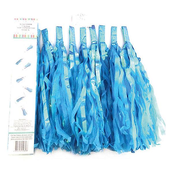 Гирлянда Патибум Тассел голубые кисточкиБаннеры и гирлянды для детской вечеринки<br>Характеристики:<br><br>• возраст: от 3 лет;<br>• тип игрушки: гирлянда;<br>• вес: 110 гр;<br>• цвет: голубой;<br>• размеры: 15х20х0,5 см;<br>• материал: бумага, фольга;<br>• бренд: Патибум;<br>• страна производитель: Китай.<br><br>Y Гирлянда «Тассел»  голубые кисточки – отличное украшение для детского праздника. Вечеринка, день рождения или другое торжество пройдет значительно веселее, если украсить помещение бумажными гирляндами.  Данное изделие выполнено в виде кисточек большого размера.  Ее удобно вешать и снимать. В серии есть много цветов, поэтому можно совмещать их для яркого украшения. <br><br>Гирлянда от «Патибум» входит в большую коллекцию одноразовой посуды и аксессуаров для проведения детских праздников. Поэтому можно подготовиться к нему, украсив все в едином стиле. Тарелки, стаканы, салфетки и аксессуары с любимыми героями понравятся всем детям. Изделие выполнено из качественных материалов, предназначенных для детей возрастом от трех лет. <br><br>Y Гирлянду «Тассел»  голубые кисточки  можно купить в нашем интернет-магазине.<br>Ширина мм: 150; Глубина мм: 200; Высота мм: 5; Вес г: 110; Возраст от месяцев: 36; Возраст до месяцев: 2147483647; Пол: Унисекс; Возраст: Детский; SKU: 7224893;