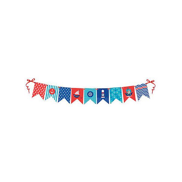 ZP Гирлянда Морские флажки 2,5мНовинки для праздника<br>Характеристики:<br><br>• возраст: от 3 лет;<br>• тип игрушки: гирлянда;<br>• вес: 80 гр;<br>• длина: 2,5 м;<br>• размеры: 15х20х0,5 см;<br>• материал: бумага;<br>• бренд: Патибум;<br>• страна производитель: Китай.<br><br>ZP Гирлянда «Морские флажки» 2,5м – отличное украшение для детского праздника. Вечеринка, день рождения или другое торжество пройдет значительно веселее, если украсить помещение бумажными гирляндами.  Данное изделие выполнено в виде связки из элементов и имеет длину 2,5 метра. Ее удобно вешать и снимать. Морская тематика особенно порадует мальчиков.<br><br>Гирлянда от «Патибум» входит в большую коллекцию одноразовой посуды и аксессуаров для проведения детских праздников. Поэтому можно подготовиться к нему, украсив все в едином стиле. Тарелки, стаканы, салфетки и аксессуары с любимыми героями понравятся всем детям. Изделие выполнено из качественных материалов, предназначенных для детей возрастом от трех лет. <br><br>ZP Гирлянду «Морские флажки» 2,5м можно купить в нашем интернет-магазине.<br>Ширина мм: 150; Глубина мм: 200; Высота мм: 5; Вес г: 80; Возраст от месяцев: 36; Возраст до месяцев: 2147483647; Пол: Мужской; Возраст: Детский; SKU: 7224899;