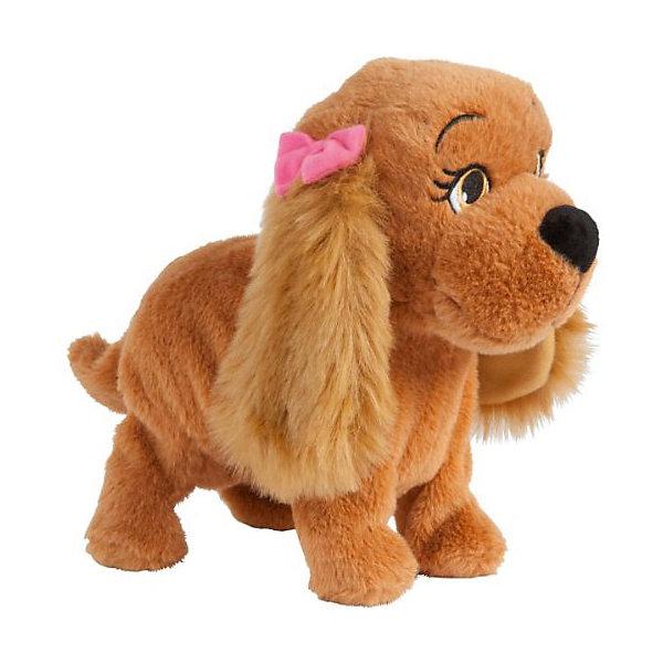 Интерактиная игрушка IMC Toys Собачка ЛюсиИнтерактивные животные<br>Характеристики:<br><br>• возраст: от 3 лет<br>• выполняет 12 команд: голос, танцевать, сидеть, целоваться, искать, стоять, служить, приветствие, здороваться, дать обе лапки, ждать команды, лежать<br>• коммуницирует с интерактивной собакой Lola.<br>• батарейки: 4 шт. типа АА<br>• наличие батареек: входят в комплект<br>• инструкция внутри упаковки<br>• материал: плюш, текстиль, пластик<br>• упаковка: картонная коробка<br>• размер упаковки: 30х22х29 см.<br>• вес: 480 гр.<br><br>Интерактивная собака Lucy (Люси) от производителя IMC Toys – это необычайно обаятельный, ласковый и сообразительный щенок. У нее мягкая шерстка коричневого цвета, длинные ушки и большие глаза. Люси сразу же покорит свою маленькую хозяйку и станет ее любимой игрушкой.<br><br>Люси выполняет 12 различных голосовых команд. Сказав ей «Привет», можно услышать в ответ радостный лай, а после слов «Поцелуй меня» Люси попытается допрыгнуть до девочки, пытаясь ее поцеловать. Люси знает команду «Искать», после которой она опускает голову и начинает принюхиваться. Если подать Люси команду «Танцуй», она начнет исполнять забавный танец. Как и обычная собака, она может выполнять команды «Голос», «Сидеть», «Лежать», «Стоять», «Служить», «Ждать команды», «Здороваться» и реагирует на просьбу дать лапу.<br><br>Если с Люси долго не играть, она заснет. Для того, чтобы разбудить ее, достаточно громко сказать Привет - и Люси снова готова к игре.<br><br>Собака Люси – это старшая  сестра интерактивной собаки Lola (Лола), поэтому игрушки могут общаться друг с другом, взаимодействуя и выполняя команды.<br><br>Собаку Lucy интерактивную, эл/мех можно купить в нашем интернет-магазине.<br><br>Ширина мм: 300<br>Глубина мм: 220<br>Высота мм: 290<br>Вес г: 480<br>Возраст от месяцев: 36<br>Возраст до месяцев: 180<br>Пол: Унисекс<br>Возраст: Детский<br>SKU: 7225150