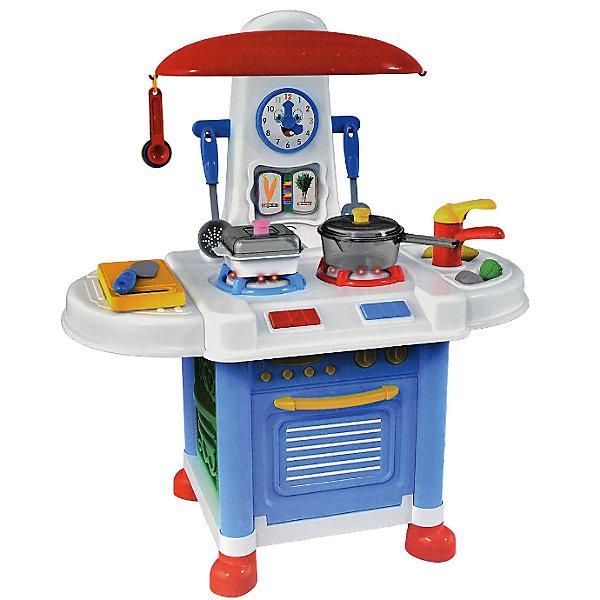 Детская кухня Abtoys Помогаю маме, 12 предметовДетские кухни<br>Характеристики:<br><br>• тип игрушки: игровой набор;<br>• комплектация: духовка, плита с двумя конфорками, мойка с краном, сушилка, а также на ней есть крючки, часы и вытяжка;<br>• возраст: от 3 лет;<br>• размер: 45х10х59,5 см;<br>• бренд: Abtoys;<br>• упаковка: картонная коробка;<br>• материал: пластик, бумага.<br><br>Набор из серии «Помогаю маме» Кухня в наборе с аксессуарами - это оптимальное решение для организации самых разных ролевых игр ребенка. Набор с большим количеством аксессуаров обязательно увлечет ребенка и подарит ему очень много ярких впечатлений. Ребенок сможет разыграть огромное количество сценок, которые до этого видел в реальной жизни. <br><br>Набор состоит из мини кухни с аксессуарами, благодаря которым малышка сможет готовить еду для своих любимых кукол. Кухня состоит из открывающейся духовки, плиты с двумя конфорками, мойки с краном, сушилки, а также на ней есть крючки, часы и вытяжка. Кухня имеет световые и звуковые эффекты, которые сделают игру реалистичнее и интереснее. Для работы кухни необходимо наличие 3 пальчиковых батареек типа АА / LR6 1.5V, которые не предусмотрены в комплекте.<br><br>Весь набор сделан из прочного и качественного пластика, который прошел все необходимые проверки и соответствует стандартам качества, необходимым для производства товаров для детей. <br><br>Набор из серии «Помогаю маме» кухня в наборе с аксессуарами можно купить в нашем интернет-магазине.<br>Ширина мм: 450; Глубина мм: 100; Высота мм: 595; Вес г: 278; Возраст от месяцев: 36; Возраст до месяцев: 144; Пол: Женский; Возраст: Детский; SKU: 7225154;