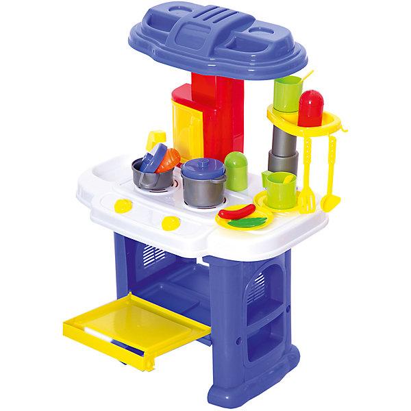 Детская кухня Abtoys Помогаю маме, 16 предметовДетские кухни<br>Характеристики:<br><br>• тип игрушки: игровой набор;<br>• комплектация: 16 предметов;<br>• возраст: от 3 лет;<br>• вес: 2,4 кг;<br>• размер: 45х60х10,4 см;<br>• бренд: Abtoys;<br>• упаковка: картонная коробка;<br>• материал: пластик, бумага.<br><br>Набор из серии «Помогаю маме» Кухня в наборе с аксессуарами - это оптимальное решение для организации самых разных ролевых игр ребенка. Набор с большим количеством аксессуаров обязательно увлечет ребенка и подарит ему очень много ярких впечатлений. Ребенок сможет разыграть огромное количество сценок, которые до этого видел в реальной жизни. <br><br>В набор входят газовая печь, несколько видов посуды, конфорки, панель для мытья посуды, вытяжка, полочки. Такая яркая, оригинальная по дизайну кухня имеет звуковые и световые эффекты, которые сделают игру реалистичнее и увлекательнее. Звуковые эффекты появляются во время приготовления пищи. Среди них есть кипение воды и жарка.<br><br>Весь набор сделан из прочного и качественного пластика, который прошел все необходимые проверки и соответствует стандартам качества, необходимым для производства товаров для детей. <br><br>Набор из серии «Помогаю маме» кухня с аксессуарами можно купить в нашем интернет-магазине.<br>Ширина мм: 480; Глубина мм: 103; Высота мм: 600; Вес г: 238; Возраст от месяцев: 36; Возраст до месяцев: 144; Пол: Женский; Возраст: Детский; SKU: 7225155;
