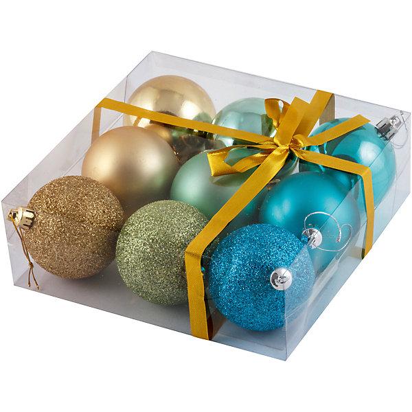 Набор елочных шаров Magic Land Ментол 9 шт, 6 смЁлочные игрушки<br>Характеристики товара:<br><br>• в комплекте: 9 шаров;<br>• диаметр шара: 6 см;<br>• возраст: от 3 лет;<br>• материал: пластик;<br>• размер упаковки: 17х17х6 см;<br>• вес: 143 грамма.<br><br>Набор «Ментол» подарит отличную возможность украсить дом и елку к чудесному празднику - Новому году. В набор входят девять шаров диаметром 6 сантиметров. Шары изготовлены из пластика, поэтому полностью безопасны для детей. Шары выполнены в трех цветах, каждый цвет имеет различные поверхности: матовая, глянцевая, блестящая.<br><br>Набор шаров «Ментол», 9 шт., 6 см, Волшебная страна можно купить в нашем интернет-магазине.<br>Ширина мм: 170; Глубина мм: 170; Высота мм: 60; Вес г: 143; Возраст от месяцев: 36; Возраст до месяцев: 2147483647; Пол: Унисекс; Возраст: Детский; SKU: 7225231;