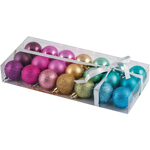 Набор елочных шаров Magic Land Палитра 21 шт, 4 смЁлочные игрушки<br>Характеристики товара:<br><br>• в комплекте: 21 шар;<br>• диаметр шара: 4 см;<br>• возраст: от 3 лет;<br>• материал: пластик;<br>• размер упаковки: 4х11,5х26,5 см;<br>• вес: 129 грамм.<br><br>Набор «Палитра» состоит из 21 шара для украшения помещений. Шары выполнены в семи ярких цветах, каждые шары одного цвета имеют разные поверхности: глянцевая, матовая, блестящая. Шары изготовлены из прочного пластика, благодаря чему дети смогут помочь родителям в украшении новогодней ёлочки. Диаметр шара - 4 сантиметра.<br><br>Набор шаров «Палитра», 21 шт., 4 см, Волшебная страна можно купить в нашем интернет-магазине.<br>Ширина мм: 265; Глубина мм: 115; Высота мм: 40; Вес г: 129; Возраст от месяцев: 36; Возраст до месяцев: 2147483647; Пол: Унисекс; Возраст: Детский; SKU: 7225232;