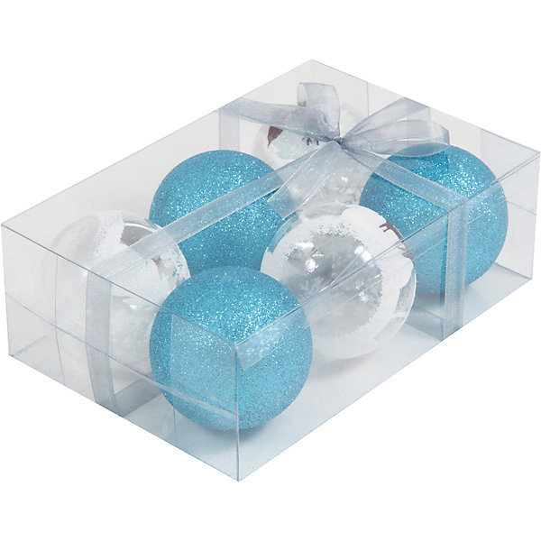 Набор елочных шаров Magic Land 6 шт, 6 см (синие)