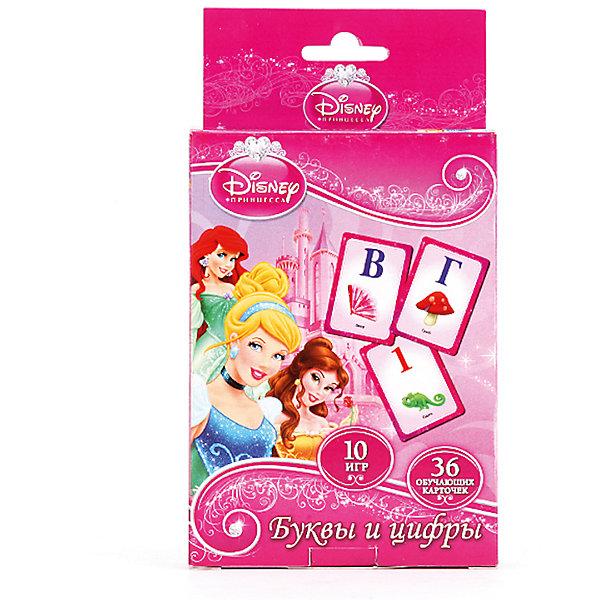 Карточки развивающие  Дисней  Принцессы Учим алфавит и цифры 36 карточекОбучающие карточки<br>Чтобы заинтересовать ребёнка учебным процессом, достаточно привлечь к нему любимых персонажей мультфильмов. Поэтому эти красочные карточки с Принцессами Дисней являются беспроигрышным вариантом, чтобы в форме игры познакомить детей с буквами русского алфавита и цифрами на примере заданий и картинок. Чтобы игровой процесс приносил ребенку не только радость, но и новые полезные знания, подарите ему эти развивающие карточки. Благодаря красочным картинкам и увлекательным заданиям дети познакомятся с буквами алфавита и цифрами. В подробной инструкции представлено 10 вариантов развлечений с использованием карточек и правила игры. Развивающий набор будет способствовать улучшению логического мышления детей, а также расширения их кругозора. Карточки изготовлены из прочного картона, который отличается особой прочностью и окрашен в яркие насыщенные цвета. В комплекте: 36 карточек, правила игры. Материал: картон. Рекомендовано детям от 3-х лет.<br><br>Ширина мм: 16<br>Глубина мм: 2<br>Высота мм: 9<br>Вес г: 120<br>Возраст от месяцев: 36<br>Возраст до месяцев: 84<br>Пол: Унисекс<br>Возраст: Детский<br>SKU: 7225545
