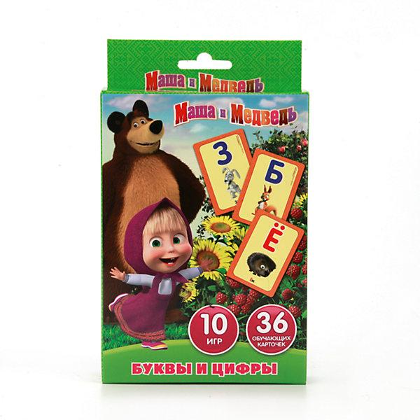 Карточки развивающие  Учим алфавит и цифры дизайн Маша и Медведь 36 карточекОбучающие карточки<br>• ISBN: 4690590085295;<br>• возраст: от 3 лет;<br>• иллюстрации: цветные;<br>• упаковка: картонная коробка;<br>• материал: картон;<br>• количество карточек: 36;<br>• формат: 19х13х2 см.;<br>• вес: 110 гр.;<br>• издательство: УМКА;<br>• страна: Россия.<br><br>Карточки развивающие «Маша и Медведь. Учим алфавит и цифры» помогут детям в игровой форме выучить наименования и последовательность букв русского алфавита и цифр. В комплект входят 36 карточек с цветными рисунками, с которыми можно играть 10 разными способами, что не позволит детям заскучать.<br><br>Развивающие детские книги «УМКА» полностью отвечают современной тенденции книжного рынка – интерактивность и обучение детей раннего возраста и дошкольников. Широкий ассортимент книг основан на авторском тексте, красочных иллюстрациях, любимых мультяшных героях и  безупречном качестве.<br><br>Обучающие карточки отличный выбор как для подарка, так и для собственного использования.<br><br>Карточки развивающие «Маша и Медведь. Учим алфавит и цифры», 36 карточек, Изд. УМКА можно купить в нашем интернет-магазине.<br><br>Ширина мм: 19<br>Глубина мм: 2<br>Высота мм: 13<br>Вес г: 110<br>Возраст от месяцев: 36<br>Возраст до месяцев: 84<br>Пол: Унисекс<br>Возраст: Детский<br>SKU: 7225547