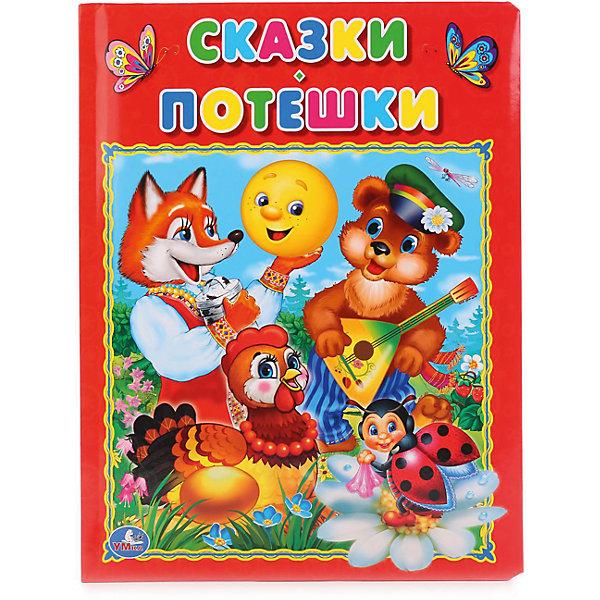 Книга из картона в пухлой обложке, подарочный вариант Сказки  ПотешкиПервые книги малыша<br>Характеристики товара:<br><br>• ISBN: 9785506014362;<br>• возраст: от 3 лет;<br>• иллюстрации: цветные;<br>• переплет: твердый;<br>• материал: картон;<br>• количество страниц: 16;<br>• формат: 28х22х1 см.;<br>• вес: 520 гр.;<br>• издательство: УМКА;<br>• страна: Россия.<br><br>Книга в пухлой обложке «Сказки. Потешки»  - станет первой книжкой, благодаря которой ребенок сможет познакомиться с увлекательным миром детской литературы. Издание красочно проиллюстрировано — ребенку понравится рассматривать крупные яркие картинки. Четкий слоговой ритм и короткие повторяющиеся фразы позволят быстро выучить потешки наизусть.<br><br>Страницы издания выполнены из картона отличного качества, безопасного для здоровья ребёнка. Благодаря мягкой пухлой обложке книгу приятно и удобно держать в руках. Все книги компании Умка имеют требуемую сертификацию для производства детских товаров.<br><br>Идеальный выбор для совместных занятий вдвоём с ребёнком, а также отличный вариант в качестве познавательного красочного подарка. Такая книга поможет ребенку развить внимание, логическое мышление, укрепит память, мелкую моторику и усидчивость.<br> <br>Книгу в пухлой обложке «Сказки. Потешки», 16 стр., Изд. УМКА можно купить в нашем интернет-магазине.<br><br>Ширина мм: 22<br>Глубина мм: 1<br>Высота мм: 28<br>Вес г: 510<br>Возраст от месяцев: 36<br>Возраст до месяцев: 84<br>Пол: Унисекс<br>Возраст: Детский<br>SKU: 7225666