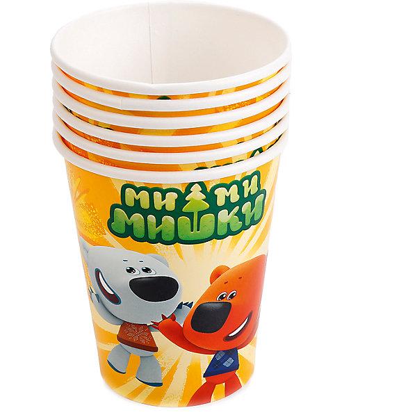 Набор из 6-ти стаканчиков Ми-ми-мишкиСтаканы<br>Характеристики товара:<br><br>• возраст: от 3 лет;<br>• упаковка: пакет;<br>• размер упаковки: 35х13х8 см.;<br>• количество стаканов: 6 шт.;<br>• емкость стакана: 180 мл.;<br>• цвет: белый с рисунком;<br>• состав: картон;<br>• бренд, страна-производитель: Веселый праздник, Россия.<br><br>Стаканы картонные «Ми-ми-мишки» - этот детский набор из 6 стаканов с изображением мультяшных героев Ми-ми-мишек сделает  торжество Вашего ребенка еще интересней, увлекательней и веселей. Детям очень важна атмосфера во время праздника, в том числе и оформление.<br><br>Стаканы от российского бренда «Веселый праздник» , который производит качественные товары для детского праздника, изготовлены из безопасного прочного картона, безвредного для детского здоровья. Подходят для холодных и горячих напитков.<br><br>Стаканы картонные «Ми-ми-мишки», 180 мл., 6 шт.,  Веселый праздник можно купить в нашем интернет-магазине.<br>Ширина мм: 13; Глубина мм: 8; Высота мм: 35; Вес г: 50; Возраст от месяцев: 36; Возраст до месяцев: 168; Пол: Унисекс; Возраст: Детский; SKU: 7225697;