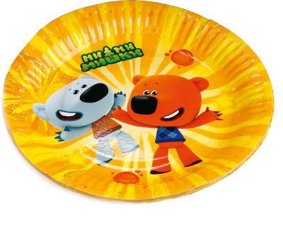 Веселый праздник Набор из 6-ти тарелок Ми-Ми-Мишки 18 см бумажные