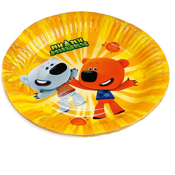 Набор из 6-ти тарелок  Ми-Ми-Мишки 18 см бумажныеНовинки для праздника<br>Характеристики товара:<br><br>• возраст: от 3 лет;<br>• упаковка: пакет;<br>• размер упаковки: 26х20х2 см.;<br>• количество тарелок: 6 шт.;<br>• размер тарелки: 18 см.;<br>• цвет: желтый;<br>• материал: картон;<br>• бренд, страна-производитель: Веселый праздник, Россия.<br><br>Тарелки  «Ми-Ми-Мишки» с изображением веселых мишей из одноименного мультфильма помогут не только оригинально и необычно украсить праздничный стол и создать незабываемую атмосферу праздника, но и обезопасят вас и ваших детей от разбитой посуды. <br><br>Тарелки сделаны из качественных материалов, не токсичны, противоаллергенны и безопасны для здоровья.<br><br>Тарелки  «Ми-Ми-Мишки» , 28 см., 6 шт., Веселый праздник  можно купить в нашем интернет-магазине.<br>Ширина мм: 20; Глубина мм: 2; Высота мм: 26; Вес г: 70; Возраст от месяцев: 36; Возраст до месяцев: 168; Пол: Унисекс; Возраст: Детский; SKU: 7225700;